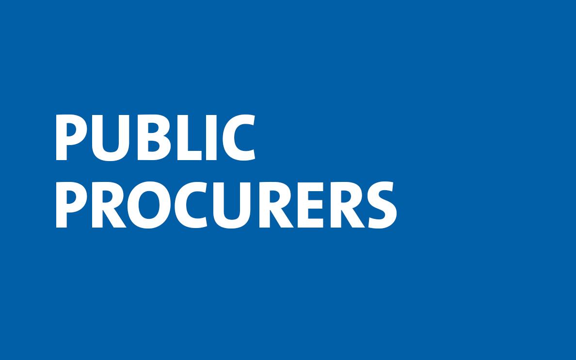 public procurers navigation tile